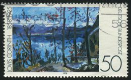 Postage stamp. GERMANY  - CIRCA 1978: stamp printed by Germany, shows Easter at Walchensee, by Lovis Corinth, circa 1978 royalty free stock photos