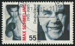Postage stamp. GERMANY- CIRCA 2005: stamp printed by Germany, shows Max Schmeling, boxer, circa 2005 Royalty Free Stock Image