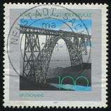 Postage stamp. GERMANY- CIRCA 1997: stamp printed by Germany, shows Mungsten Bridge, circa 1997 royalty free stock photo