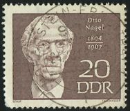 Postage stamp. GERMANY - CIRCA 1967: stamp printed by Germany, shows Otto Nagel, circa 1967 royalty free stock photography