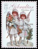 Postage stamp - Gibraltar Royalty Free Stock Images