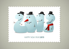 Postage stamp Happy new  year Royalty Free Stock Images