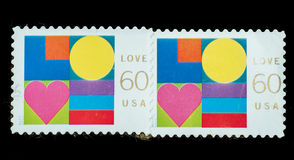 Postage Stamp isolated Stock Photos