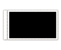 Postage stamp isolated on white Royalty Free Stock Photo