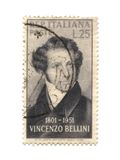 Postage stamp from Italy dated 1951. With Vincenzo Bellini Stock Photography