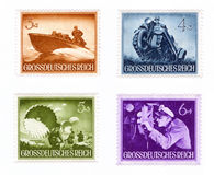 Postage stamp: kinds of troops of the Wehrmacht Stock Images
