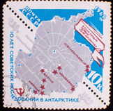 Postage stamp mail Soviet Union Stock Photos