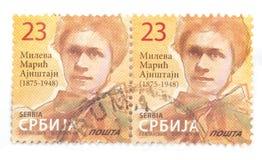 Postage stamp of Mileva Maric wife of Albert Einstein Stock Images