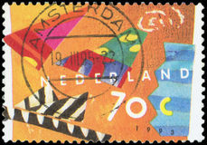 Postage stamp - Nederland. High quality Royalty Free Stock Images