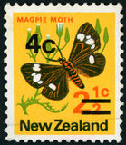 Postage stamp - New Zealand. Postage stamp - Butterfly - High quality Royalty Free Stock Photos