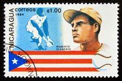 Postage stamp Nicaragua 1984, Roberto Clemente from Puerto Rico