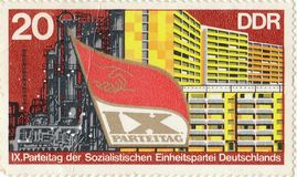 Postage stamp `Parteitag`. Printed in the USSR stock photos