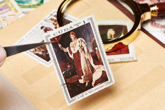 Postage stamp with picture of Napoleon Royalty Free Stock Photography