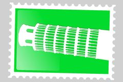 Postage stamp. Pisa tower. Stock Images