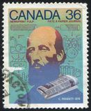 Postage stamp printed by Canada Royalty Free Stock Images