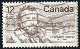 Postage stamp printed by Canada. CANADA - CIRCA 1977: stamp printed by Canada, shows Sandford Fleming, circa 1977 royalty free stock photo