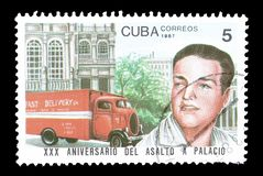 Postage stamp printed by Cuba royalty free stock photos
