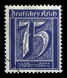 Stamp printed in GDR shows numeric value. A postage stamp printed in Germany shows numeric value, circa 1921 stock photos