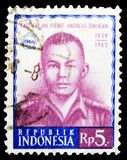 Postage stamp printed in Indonesia shows Tendean, Attempted Communist Coup serie, 5 Rp - Indonesian rupiah, circa 1966