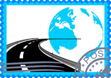 Postage Stamp. Road Stock Photography