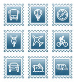 Postage stamp set 20. Vector icons set for internet, website, guides Royalty Free Stock Photography