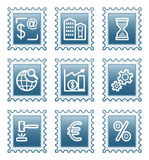 Postage stamp set 25 Stock Photo