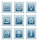 Postage stamp set 9 Stock Image