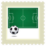 Postage Stamp Soccer Royalty Free Stock Image