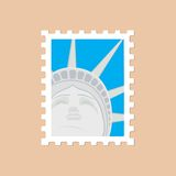 Postage stamp with the Statue of Liberty Royalty Free Stock Photos