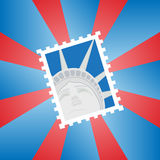 Postage stamp with the Statue of Liberty Royalty Free Stock Images