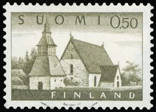 Postage Stamp - Suomi. Finland High resolution Stock Image
