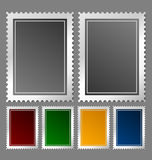 Postage stamp template. In various color variations Stock Image