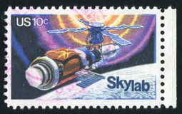 Postage stamp. UNITED STATES - CIRCA 1974: stamp printed by United states, shows Skylab, circa 1974 stock image