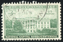 Postage stamp. UNITED STATES - CIRCA 1950: stamp printed by United states, shows Executive Mansion, white house, circa 1950 stock photo