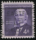 Postage stamp. UNITED STATES - CIRCA 1961: stamp printed by United states, shows Horace Greeley, circa 1961 stock photos