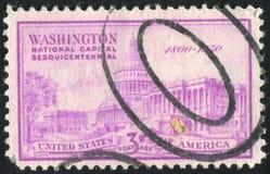 Postage stamp. UNITED STATES - CIRCA 1950: stamp printed by United states, shows United States Capitol, circa 1950 royalty free stock photo