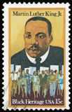 Postage stamp -USA. Postage stamp - Portrait of Martin Luther King Jr stock photography