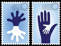 Postage stamp vector Royalty Free Stock Photos