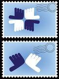 Postage stamp vector Stock Image