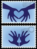 Postage stamp vector Royalty Free Stock Images