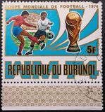Postage Stamp. 1974. World Cup. Soccer. Republic of Burundi stock photo