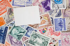 Postage stamps. Of the different countries Royalty Free Stock Images