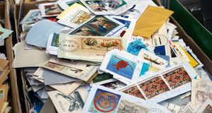 Postage stamps. Stock Photo