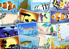 Postage stamps Stock Photo