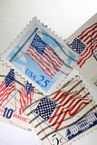 Postage stamps. United States postage stamps closeup Royalty Free Stock Images