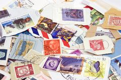 Postage Stamps. Used Postage Stamps Stock Images