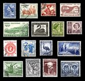 Postage stamps from Australia Stock Images