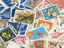 Postage stamps.Background Royalty Free Stock Photography