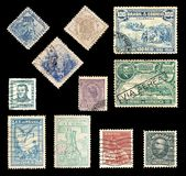 Postage stamps from Brazil Royalty Free Stock Images