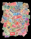 Postage stamps collection stock images